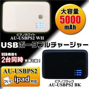 USBポータブルチャージャー USBPS2 ピアノホワイト - 拡大画像