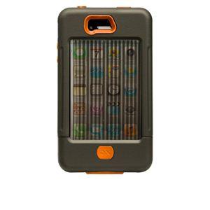 米国軍用規格 iPhone4/4Sケース TANK CM016802 ミリタリーグリーン×オレンジ - 拡大画像