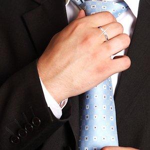 甲丸ダイヤリング 指輪 8号 f05