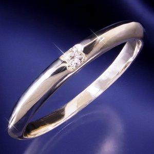 甲丸ダイヤリング 指輪 16号 h02