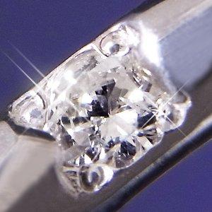 甲丸ダイヤリング 指輪 17号 h03