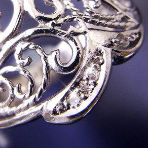 透かし彫りダイヤリング 指輪 15号 h02