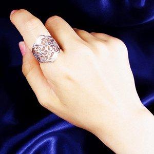透かし彫りダイヤリング 指輪 15号 f04