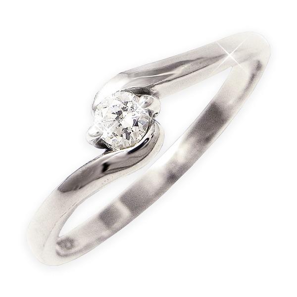 ダイヤリング 指輪Sラインリング 17号f00