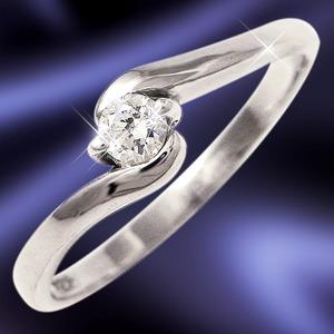 ダイヤリング 指輪Sラインリング 17号 h02