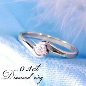 ダイヤリング 指輪Sラインリング 17号 f06