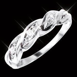 ダイヤリング 指輪ツイストリング 17号 h02