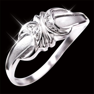 ダイヤリング 指輪エレガントリング 7号 h02