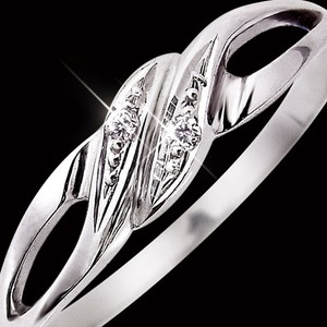 ダイヤリング 指輪 9号 h02