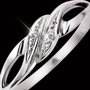 ダイヤリング 指輪 17号 h02
