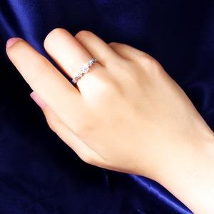 ハートダイヤリング 指輪 セブンストーンリング 7号 f05