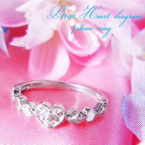 ハートダイヤリング 指輪 セブンストーンリング 23号 f04