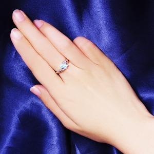 アクアマリン&ダイヤリング 指輪 9号 f05