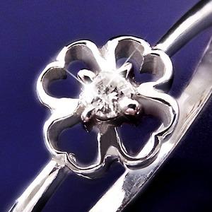 ダイヤリング 指輪クローバーリング 15号 h03