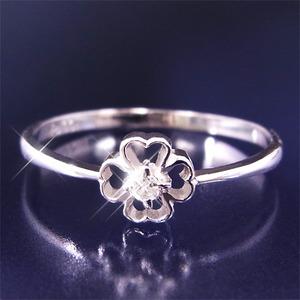 ダイヤリング 指輪クローバーリング 15号 f05