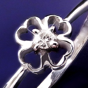 ダイヤリング 指輪クローバーリング 23号 h03