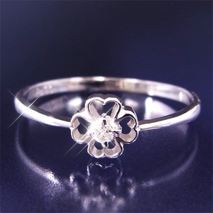 ダイヤリング 指輪クローバーリング 23号 f05