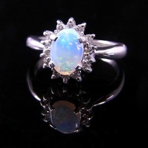 大粒オパール&ダイヤリング 指輪 15号 f04