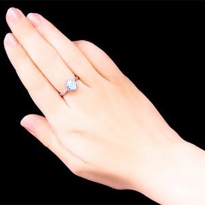大粒オパール&ダイヤリング 指輪 15号 f05