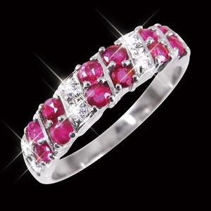 ルビー&ダイヤリング 指輪 ダブルエタニティーリング 13号 h02