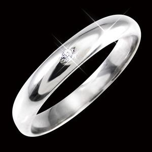 ダイヤリング 指輪 甲丸リング 7号 h02