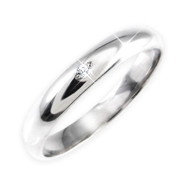【訳あり・在庫処分】ダイヤリング 指輪 甲丸リング 13号