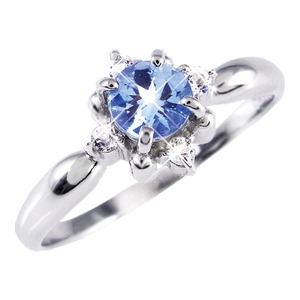 タンザナイト&ダイヤリング 指輪 9号