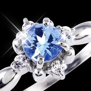 タンザナイト&ダイヤリング 指輪 13号 h03