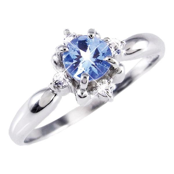 タンザナイト&ダイヤリング 指輪 19号f00