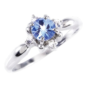 タンザナイト&ダイヤリング 指輪 21号 - 拡大画像
