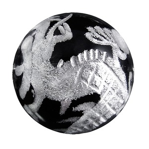 銀の龍彫りブレスレット