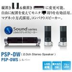 Princeton Dual Way Speaker (USB給電PC用スピーカー) シルバー PSP-DWS