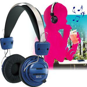 【8月30日まで期間限定特価】Bluetooth version2.1対応 ステレオ再生ワイヤレスヘッドフォン ブルー