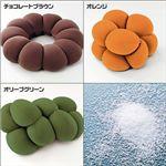 『ビッグドーナツクッション 』 チョコレートブラウン