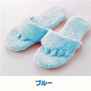 洗える携帯5本指マイスリッパ 【同色2足組みセット】 ブルー - 拡大画像