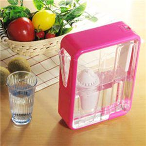 テライヨン浄水器 1.5LArtic + カートリッジ3P ピンク