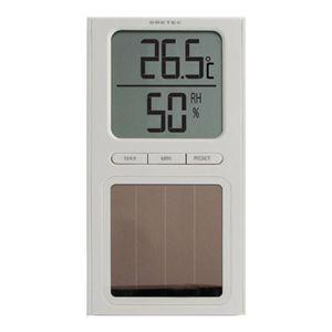 ドリテック ソーラー温湿度計 O-223 ホワイト - 拡大画像
