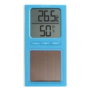 ドリテック ソーラー温湿度計 O-223 ブルー