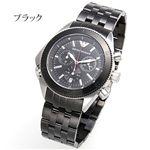 アルマーニ 腕時計 エンポリオ・アルマーニ クロノグラフ AR0547/ブラック