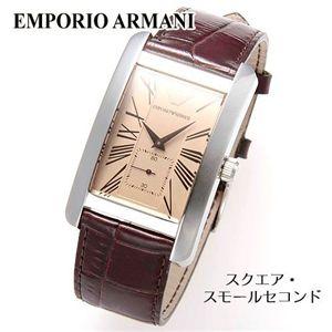 EMPORIO ARMANI (エンポリオ・アルマーニ) クラシックレザーウォッチ AR0154/スクエア・スモールセコンド - 拡大画像