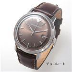 アルマーニ 腕時計 エンポリオ・アルマーニ レザーウォッチ  AR0571/チョコレート