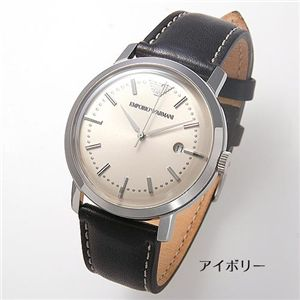 アルマーニ 腕時計 エンポリオ・アルマーニ レザーウォッチ  AR0572/アイボリー
