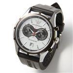 アルマーニ 腕時計 エンポリオ・アルマーニ メンズウォッチ AR0532/ブラック(ラバー)