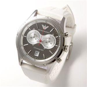 アルマーニ 腕時計 エンポリオ・アルマーニ メンズウォッチ AR0582/ホワイト(ラバー)