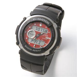 CASIO(カシオ) G-SHOCK 腕時計 メンズラバーベルトウォッチ G-300 - 拡大画像