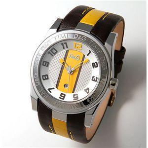 D&G(ディーアンドジー) UNOFFICIAL メンズ ベルト ウォッチ DW0215/シルバー×イエロー