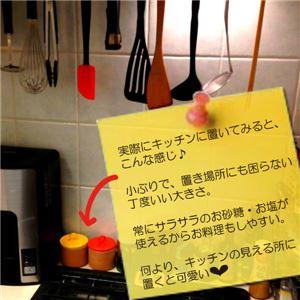 ソルト&シュガー さらさらポット オレンジ&イエロー(2個組)