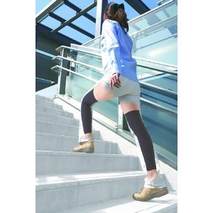 膝回り用 勝野式ヒラメキサポーター(左右セット)ブラック M - 拡大画像