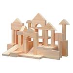 ユニット・ブロック50 舐めても安心!子供の小さな手に合うように作られた白木の積み木50個セットです(^O^)/