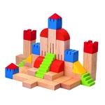 クリエイティブブロック 46個の積み木で街やお城を作ったり、いろいろな組合わせを楽しむことによって、子供たちの想像力を養います(^u^)